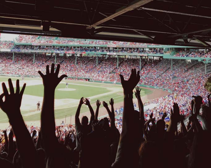 Audience view from Fenway Park.