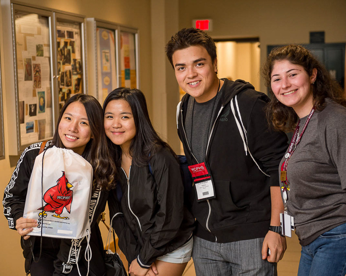 Prospective students at an MCPHS Admission Event.