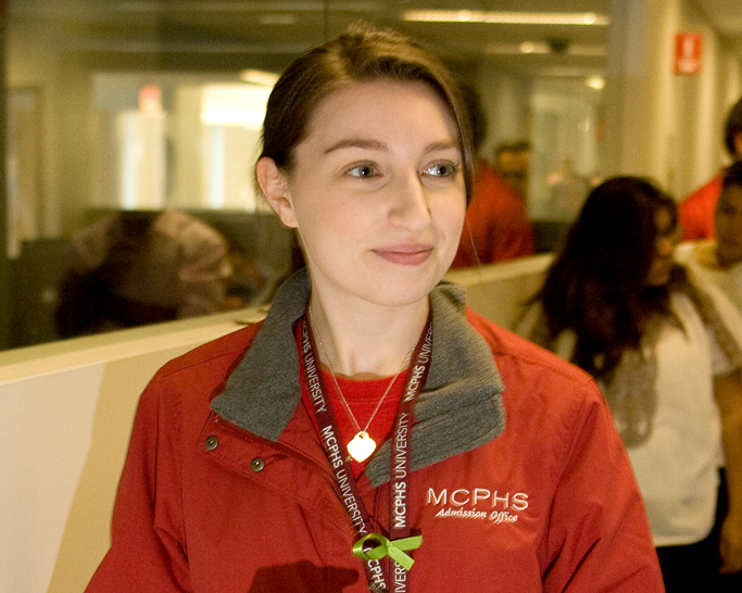 MCPHS Student at Spring Open House