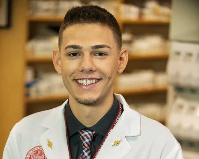 MCPHS Pharmacy student Steve