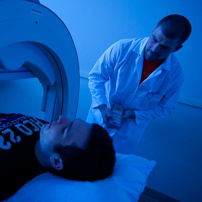 Students using MRI