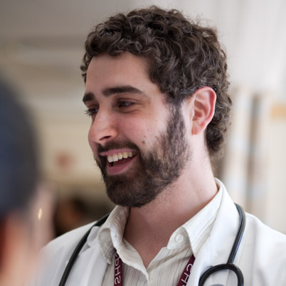 Male PA student with stethoscope.
