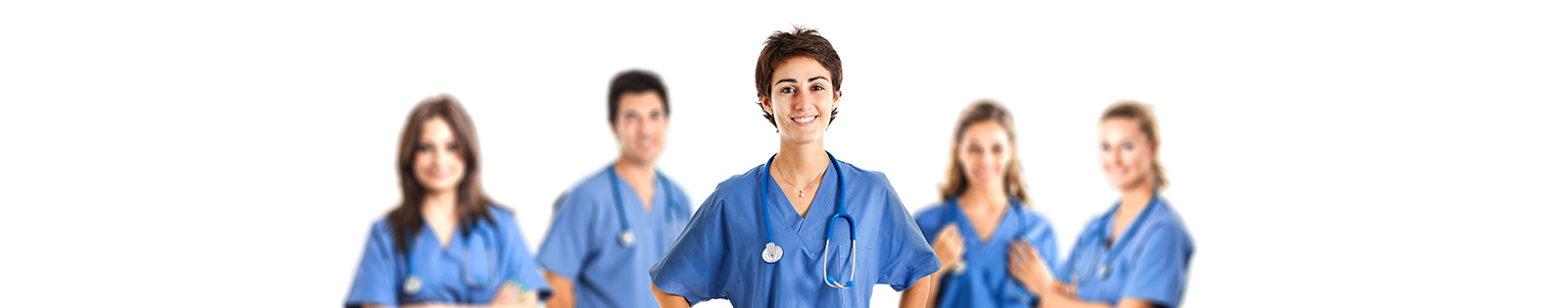 Nurses in scrubs.