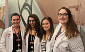 MCPHS PT students Keelin McSweeney, Samantha Sarkisian, Caitlyn O'Fiesh, and Mariah Ramsay.