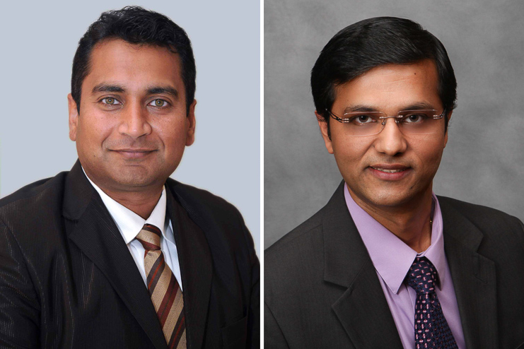 Dr. Mahesh Shivanna, Associate Professor in the School of Optometry at Massachusetts College of Pharmacy and Health Sciences (MCPHS), and Dr. Hemant Khanna from Umass Medical School.
