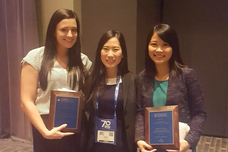 Pictured (Left to right): Jillian Boyd DO '18, Eun-Young (Esther) Ko DO '19, and Alison Zhou DO '18