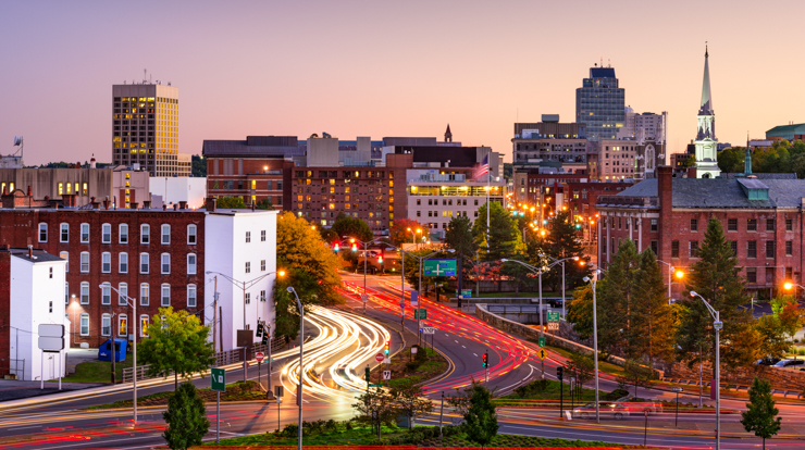 Worcester Massachusetts skyline