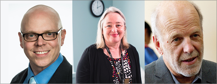 NESA faculty (from left to right): Stephen Cina, Maria Broderick, Collins Allen