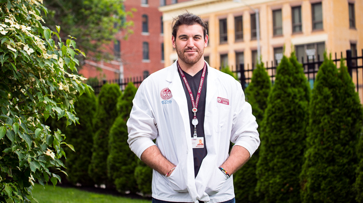 MCPHS Physical Therapy student Scott Koningswood.