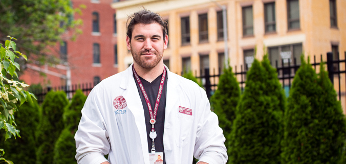 Scott, an MCPHS Physical Therapy student.