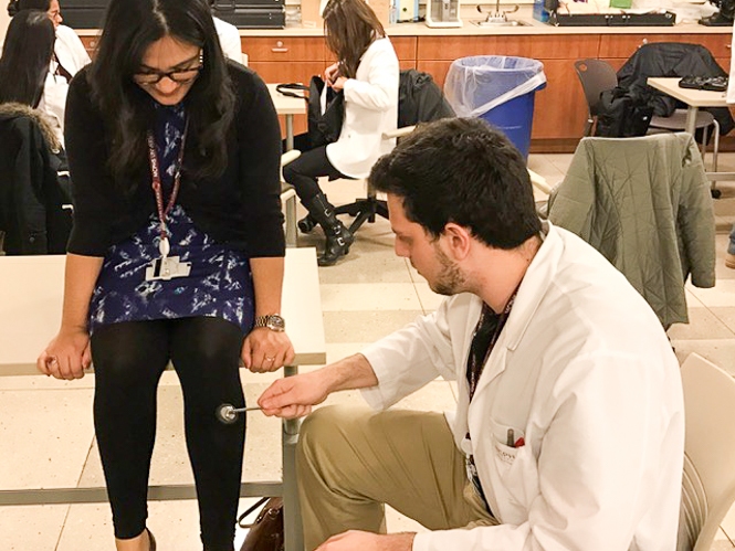 Students from the Schools of Optometry and Physician Assistant Studies come together for a day of Interprofessional Education (IPE).