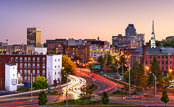 City of Worcester MA skyline.
