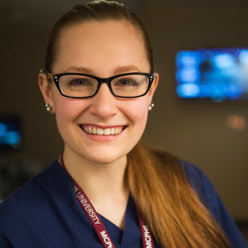 MCPHS Dental Hygiene Student Christine